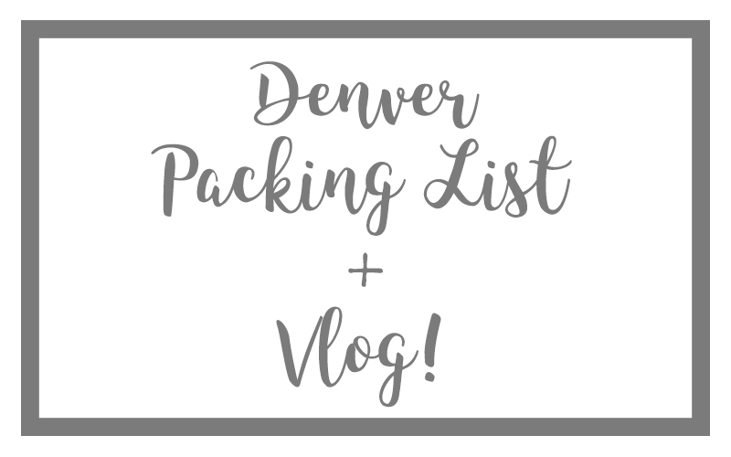 denver packing list