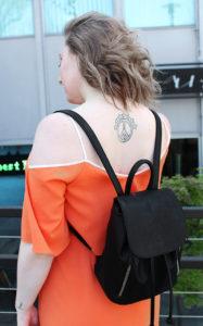 sporty cold-shoulder dress