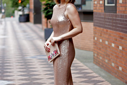 Rose Gold Sequin Dress