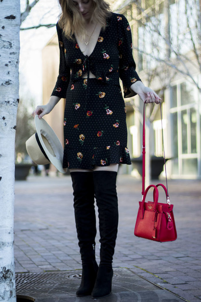 The B List Blog How To Wear A Flirty Floral Dress In The